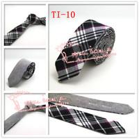 Hot selling,2015 Brand New,Men Black Diomand Check corbatas necktie,Mens Plaid double wear Cotton gravata Skinny Neck Ties,TI10