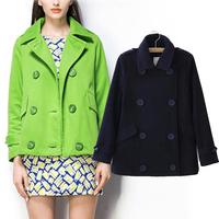 New Arrival Women Jacket Winter Lapel Long Sleeve Double Breasted Overcoat Warm Coats Outerwear WF-8421