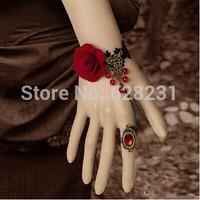 Fashion OL vintage bracelet ring set bridal lace bracelet