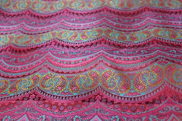 Hangzhou silk fabrics Chinese dress outfit table flag mounting cushion The brocade  wave pattern(China (Mainland))
