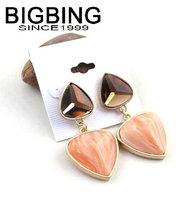 BigBing  jewelry fashion heart earrings earrings dangle earring good quality  nickel free JA057
