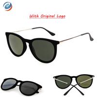 2015 New Fashion Velvet Cat Eye Frame Sunglasses with original Logo Brand Sunglasses Men Women Gafas Ciclismo oculos de grau