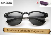 sunglasses men brand designer 2015 Aviation aluminum-magnesium fishing cycling sunglasses sports polarized sunglasses for men