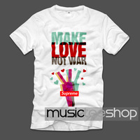 The 2014 men's love and peace in autumn and summer anti war Make Love Not War T-shirt