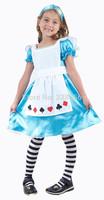 Girls Child Kids ALICE IN WONDERLAND Fancy Dress Costume Fairy Princess Age 2-9 Free Shipping