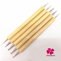 New Fashion 5pcs/lot  Wooden Dotting Pen Nail Art   Acrylic Dotting  Rhinestone Pen Nails for Painting Manicure Decoration Tools