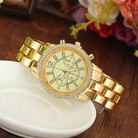 3 Colors New Fashion Women Rhinestone Quartz Watches Luxury  Dress Watches Women Wristwatch AW-SB-1261