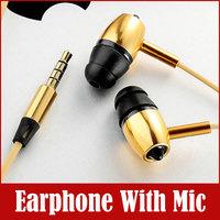 MYKIMO MK500 3.5mm In-ear Metal Headphone Earphone with mic microphone For MP3 Iphone Samsung HTC Mobile Phone