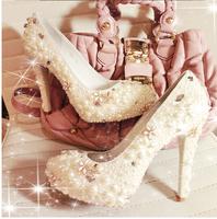 Fashion designer rhinestone crystal diamond red sole high heels bridal wedding shoes 2014 women round toe silver pump 10cm heel