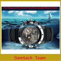 SKMEI Men's Double Display Outdoor Sports Watch, Waterproof Electronic Mens Watch LED Multifunction Military WristWatch