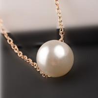 Hot wholesale pearl all-match minimalist white short paragraph Pendant Necklace Fashion Women's temperament