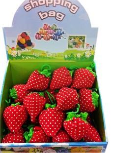 2015 Women Girl Shopping bag 1pcs Foldable Strawberry Shopping Bag Nylon Several Colors Fruit shopping bag(China (Mainland))