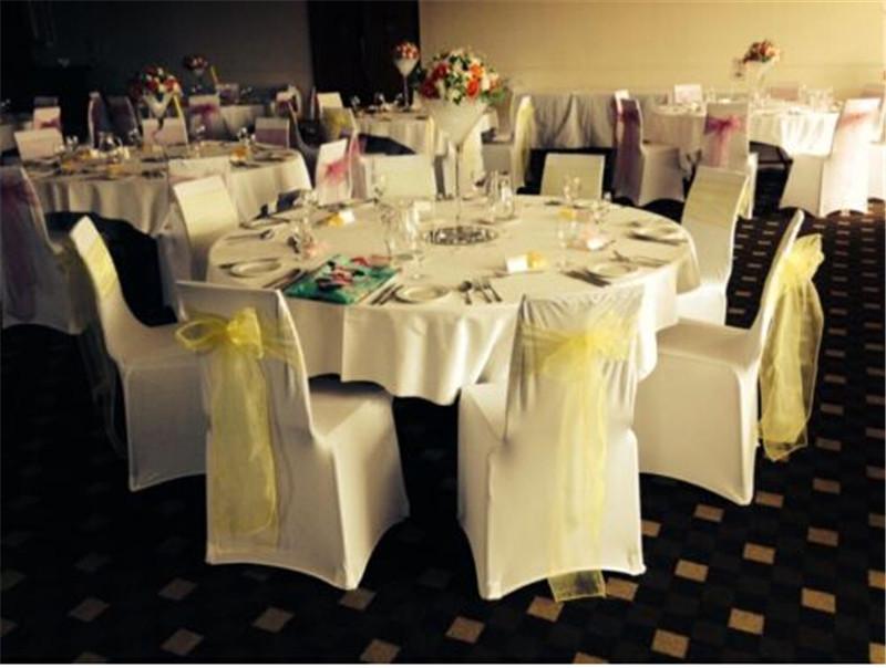 100PCS Wedding apple green Organza Chair Sashes Bow for Banquet decoration FREE SHIPPING(China (Mainland))