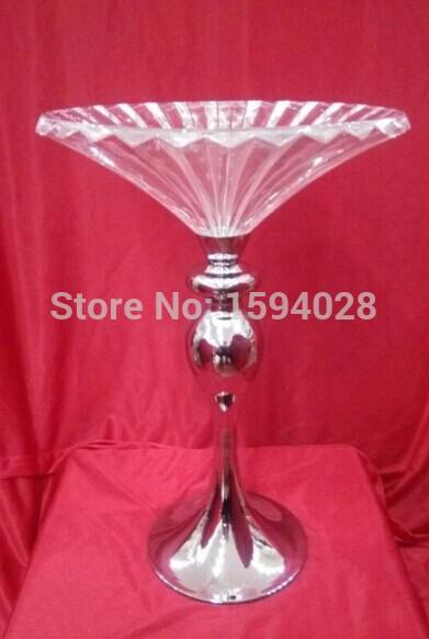 HOTSALE ! 20PCS Crystal Flower tray / Wedding Crystal Charger Plate / Flower vase(China (Mainland))