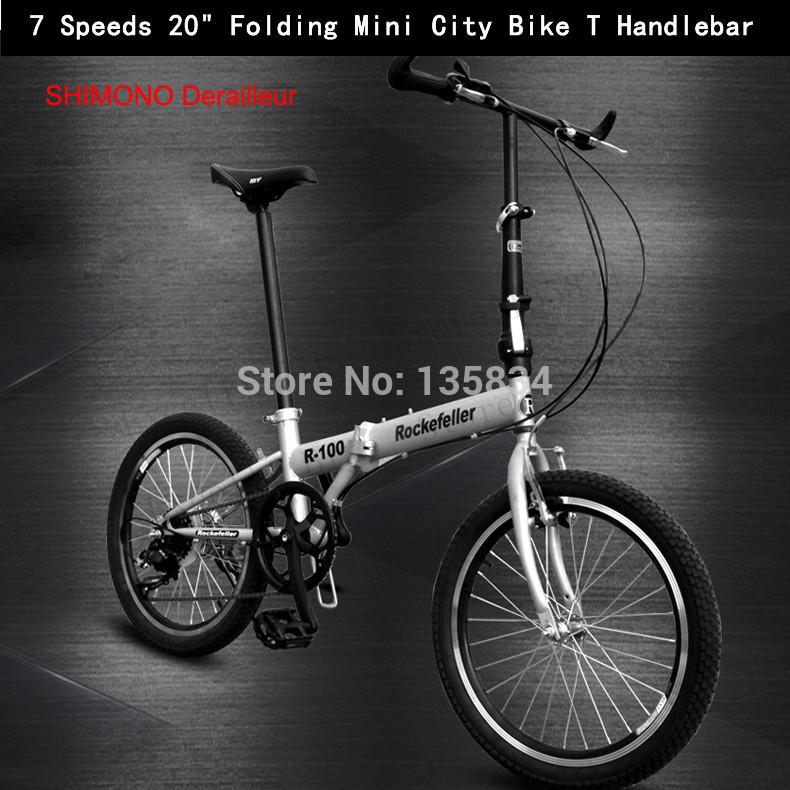 "7 Speeds 20"" Folding Mini City Bike T Handlebar Bicicletas Velo Bicicleta Infantil Common Childen' Bicycle Kids Plegable Bicycle(China (Mainland))"