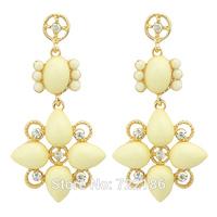 2014 Fashion Jewelry Green Diamond Supply  Created Gemstone Drop Earrings for Women