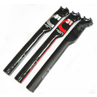 MTB Full Carbon Fiber Seatpost for Mountain Road Bike Fixie Bicycle 27.2/30.8/31.6mm red/black/silver color