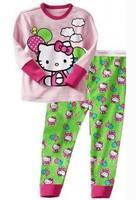 baby girl hello kitty hot pink pajamas children cotton pyjamas kids sleepwear fashion design  Retail 1set 2 pcs