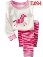 New brand children pajamas boys pajamas kids clothing set  kids pajamas 100%cotton baby pajamas children homewear 2T-7T