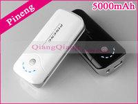 100% Original Pineng Mobile Power Bank 5000mAh PN-905 Portable Battery Charger For i6 Plus Note 4 Smart Phone / Black