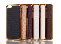 2014 new top quality Case for iPhone 6 case 4.7 inch plating with leather football lines mobile phone protective bags & cases