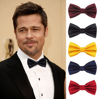Men's Polyester Plaid Thin Striped Tuxedo Bowties Suits Business Wedding Party Bow Tie 18 Colors Can Choose 2015 New