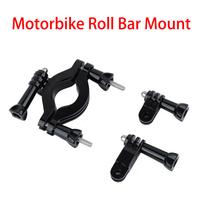 3-way Adjustable Pivot Arm Motorbike Roll Bar Mount for GoPro bike HERO/1/2/3 motorcycle rollbar for Gopro