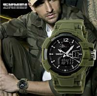 NEW Military Watch Rubber Leather 50m Waterproof Date Day Analog Clock Army Men Sports Alarm Wrist Watch Relogio MasculinoAB043