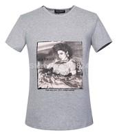 Men's T-shirt cotton - Hot Summer Dolc Men's Round Neck Collar Sport T-Shirt Tee Shirt  D04 G