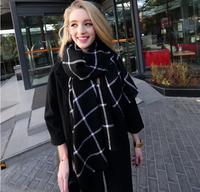 Womens scarfs fashionable Plaid Women scarf brand Cashmere Winter Mens Scarves Scarf
