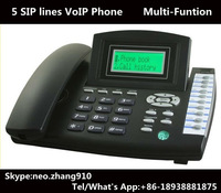 NAT 5 SIP lines VoIP Phone,Elastix compatible,Asterisk compatible SIP Phone, Elastix IP Phone,RJ45,Cheap Telephone