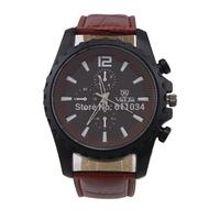 Army Casual Luxury Brand Fashion Men'S Military Quartz Clock Leather Strap Belt Big Dial Watches Men Wristwatches