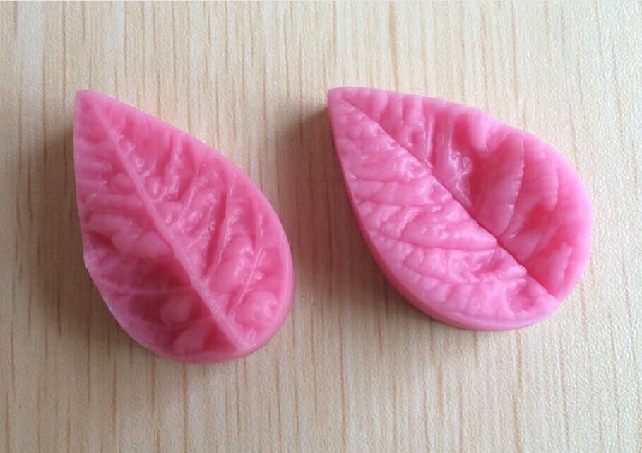 Free Shipping Leaf Shaped Silicone Press Mold Cake Decoration Fondant Cake 3D Food Grade Silicone Mould F213(China (Mainland))