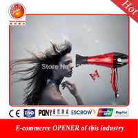 1000W AC Motor Low Noise Electric Handle Hair Dryer Black Hot/Cold Hair  Dryer Bathroom Salon Equipment 220V Secador De Cabelo
