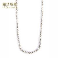 Lotus Mann Silver button artificial crystal ultra long silver necklace