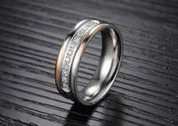 Luxury Brand Celebrity Jewelry Ceramic Titanium Steel Ring for Men Women Couples - ( US Size  6 7 8 9 10 11 12 )