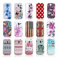 In Mold Decoration Technology Polka Dots Sleeping Owl Soft Protective Phone Cases for Samsung GALAXY Ace 2 i8160 Case Cover Skin