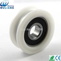 China High Quality 12x44x15.7mm U Groove wheel 6201 2RS Sliding U type Wheels for furniture