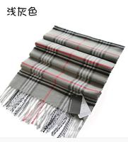 2014 New fashion burb Grid trench plaid Brand Silk men chiffon seda print ring shawl Long Scarves men