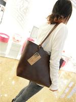 2015 New fashion vintage women bag Quality pu leather women handbag Shoulder bag Free shipping