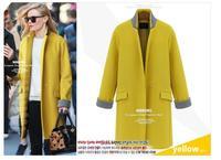 casacos femininos Hot Sales European US Autumn Winter Loose Plus Size Women Wool Coat Medium-Long Winter Coat Woollen coat -5XL