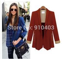 Blazer women ladies blaser feminino and jackets work wear mulheres preto chaquetas mujer Femal Suit Red Cardigan Coat