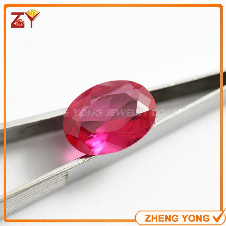 6*8mm Oval Cut #5 Ruby Synthetic Corundum Gemstone For Jewelry(China (Mainland))