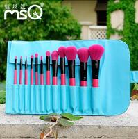 Top Grade Quality Professional Makeup Cosmeitc Brushes Makeup Tool Applicators Fashion CONTRAST COLOR 12 PCS brush kit Brand