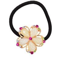 fashion hair accessories for women Cut crystal Phnom penh rhinestone faceted crystal flower hair bands