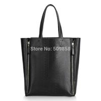 2015  genuine leather handbag snake print bag shoulder bag women handbag
