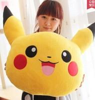 Free shipping Cartoon Pokemon Pikachu pillow cushions Bika Qiu dimensional lumbar backrest birthday gift  Christmas Gifts