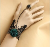 10pcs/lot Lace bracelet with one chain ring bridesmaid wrist flower