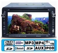 Universal Car Dvd Player GPS navigation 2 din dash 6.2 inch automotivo Bluetooth car stereo radio dvd automotivo GPS antenna