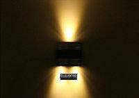 3W Led Wall Lamp Light  black  Aluminum 110-220V  bathroom lighting European creative living room lights  ROHS/CE Y-9624